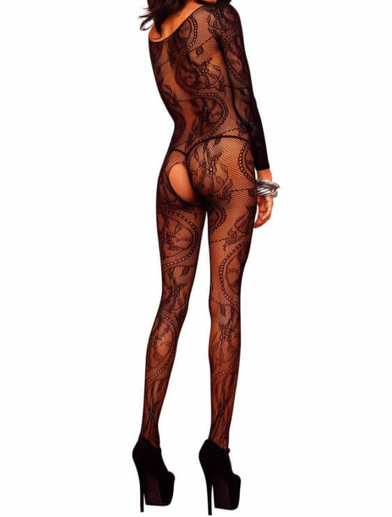 combinaison sexy Leg Avenue motifs noir dos
