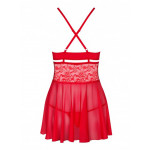 Babydoll Obsessive 838 rouge dos ghost