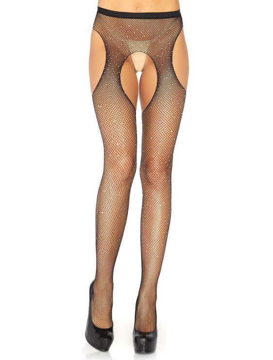 Strip Panty Leg avenue Lurex noir